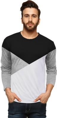 Tripr Self Design Men Round or Crew Multicolor T-Shirt