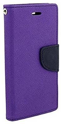 Loopee Flip Cover for Mi Redmi 3S Purple, Shock Proof