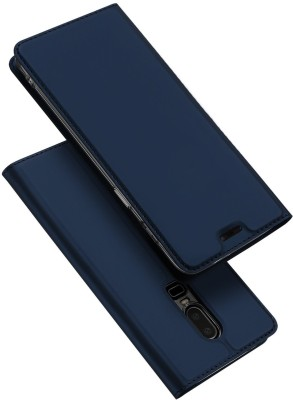Vodex Flip Cover for OnePlus 6(Blue, Dual Protection)