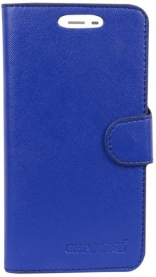 CHAMBU Flip Cover for Panasonic Eluga Ray 550 Blue, Shock Proof, Artificial Leather