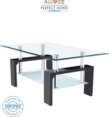 Perfect Homes by Flipkart Dorn Glass Coffee Table(Finish Color - Glass)