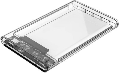 Orico Type C Transparent 2.5 inch SSD Sata Hard Disk external portable case cover USB3.0 to Type C 3.1 HDD Case Support 2 TB 2.5 2.5 HDD / SSD Enclosure Upto 2 Tb. USB 3.0(For Windows, MAC OSX, Linux, Transparent)