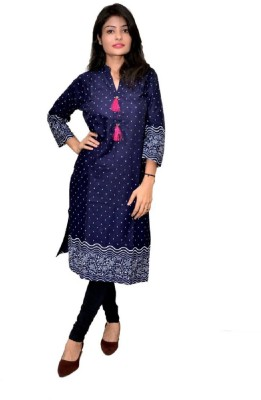 Vihang Collections Women Embroidered Straight Kurta(Pink)