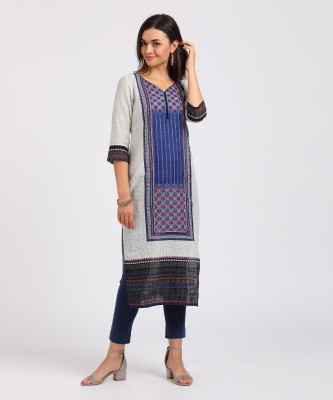 Blezza Casual Solid Women Kurti(Pack of 3, Light Blue, Blue, Grey)