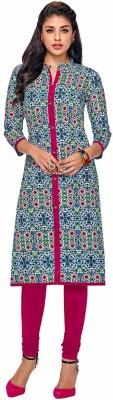 Jevi Prints Festive & Party Printed Women Kurti(Multicolor)