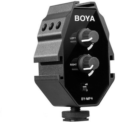 Boya By MP4 Audio Adapter for smartphone,DSLR camera,camorder