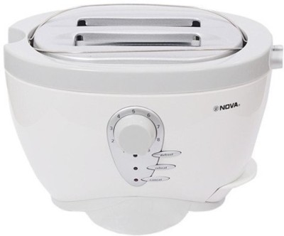Nova RX-2234CT 800 W Pop Up Toaster(White) at flipkart
