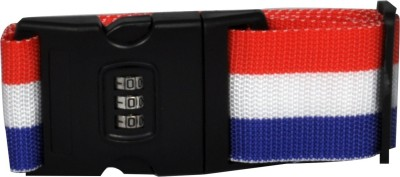 EZ Life Travel Safety - Nylon Strength Travel Belt Luggage Strap with Combination Lock - Red White Blue Luggage Strap(Red)