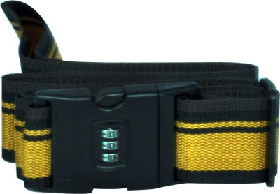 EZ Life Travel Safety - Nylon Strength Travel Belt Luggage Strap with Combination Lock - Yellow & Black Luggage Strap(Yellow)