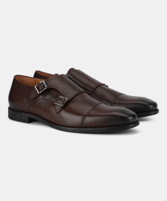 Van Heusen Monk Strap For Men(Brown) at flipkart