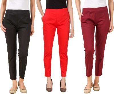 Aurelia Regular Fit Women Black Trousers
