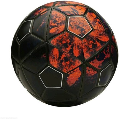 A1 Retail Sports Red & Black CR7 Football - Size: 5(Pack of 1, Multicolor)