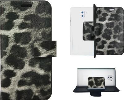 Fuhrende Flip Cover for Karbonn Platinum P9(Black, Artificial Leather)
