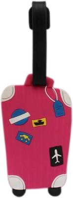Tootpado Luggage Tag Suitcase - Pink (LNTg219) Luggage Tag(Multicolor)