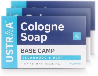 Ustraa Base Camp Cologne Soap with Cedarwood & Mint(375 g, Pack of 3)