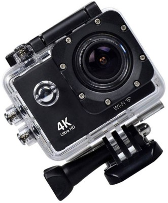 ALONZO Wifi 4K Action Camera Ultra HD 100Feet Waterproof Sport Camera 2 Inch LCD Screen 16MP 170 Degree Wide Angle Sports and Action Camera(Black 16 MP) 1