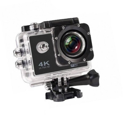 ALONZO Action Camera 4k action camera Sports and Action CameraTARVIK 4K Ultra HD 12 MP WiFi Waterproof Digital 4K Action & Sports-1 Body Only Sports & Action Camera Sports and Action Camera(Black 12 MP) 1