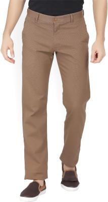 Van Heusen Sport Regular Fit Men Brown Trousers