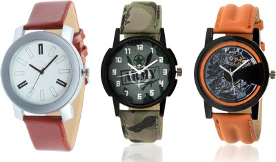 KNACK SP41BLO3 Latest Simple Brown,Casual Brown and Trending Army watch for Boys and Girls Watch  - For Men & Women