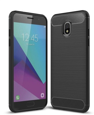 S-Line Back Cover for Samsung Galaxy J3 (2018)(Black, Flexible Case)