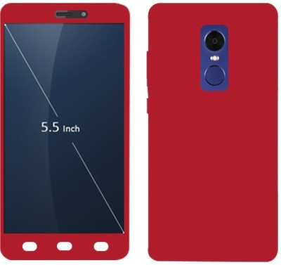 Kosher Traders Front   Back Case for Mi Redmi Note 4 Red