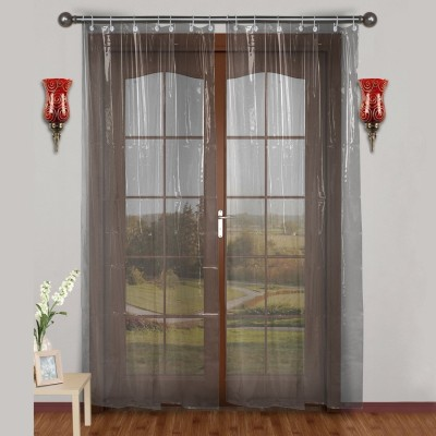 Urban Home 275 cm (9 ft) PVC Long Door Curtain Single Curtain(Solid, off-white)