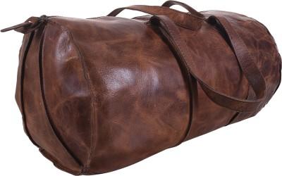 0b7ce781faee iHandikart Buffalo Leather Duffel Bag 16 inch Travel Duffel Bag(Brown)