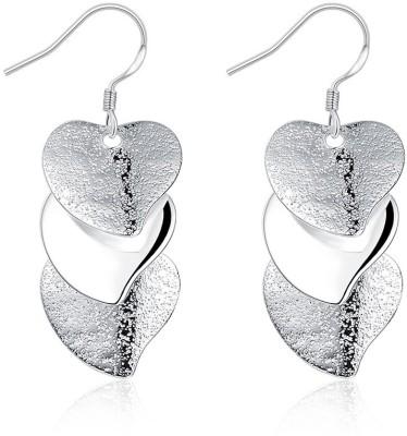 Chemistry Sparkling Heart Designer Alloy Chandelier Earring