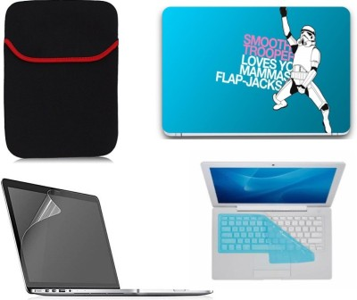 Gallery 83 ® robot man wallpaper laptop decal 4 in 1 combo set 15.6 inch 4318 Combo Set(Multicolor)