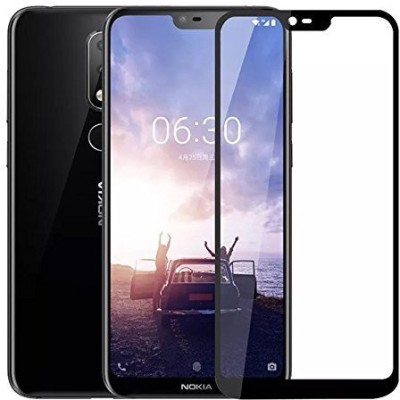 Kavacha Edge To Edge Tempered Glass for Nokia 6.1 Plus(Pack of 1)