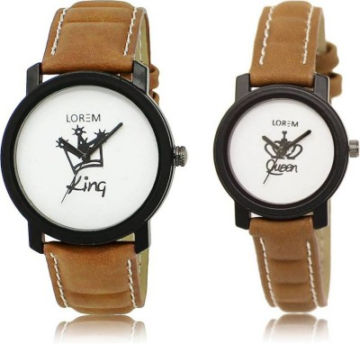 LOREM FZ 18_209 Couple Watches With King & Queen Printed Dial Analog Watch  - For Couple