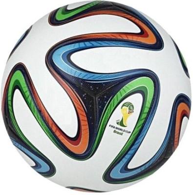 SMT Brazuca FCB Football   Size: 5 Pack of 1, Multicolor