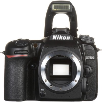 Nikon DX NIKON D7500 DSLR Camera (Body only) (16 GB SD Card + Camera Bag)(Black)