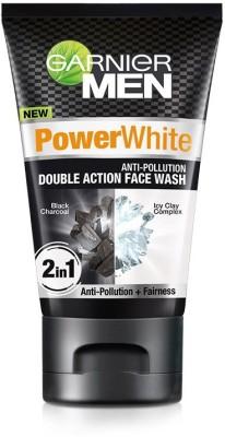 Garnier Men Power White Double Clean Face Wash(100 g)