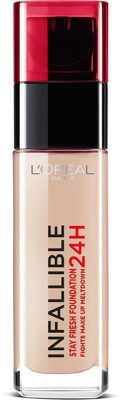 Loreal Paris Infallible 24H Liquid Foundation, Natural Rose 125, 30 ml