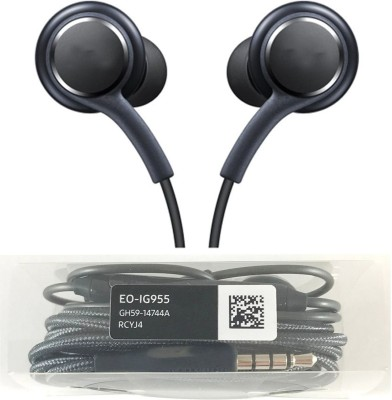BRINGWORLD AKG BEST QUALITY EARPHONE FOR SAMSUNG MOBILE A5/A7/S6/S7/S8 AND ALL 3.5 JACK MOBILE Wired Headset with Mic(Black, WITHE, In the Ear)