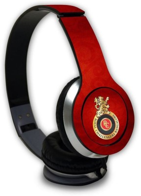 Macmerise RCB Emblem - Wave Wired On Ear Headphones Wired Headset with Mic(Multicolor, On the Ear)