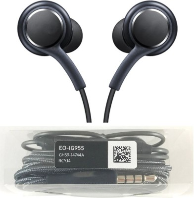 ROYALZY AKG Earphone Handsfree Headset For Android IOS ,Sam ga Wired Headset with Mic(Black, In the Ear)