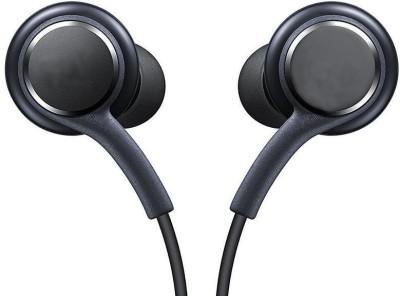 ROYALZY Black AKG Sam Earphones Headphones Headset Handsfree For Wired Headset with Mic(Black, In the Ear)
