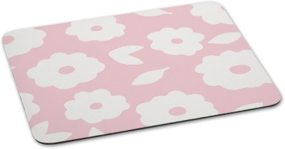 100yellow Mouse pads Floral Theme printed designer waterproof coating mousepad for Laptop- Pink Mousepad(Multicolor)