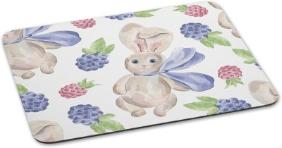 100yellow Rabbit Printed Waterproof Coating Gaming Mouse Pads For Gaming Mousepad(Multicolor)
