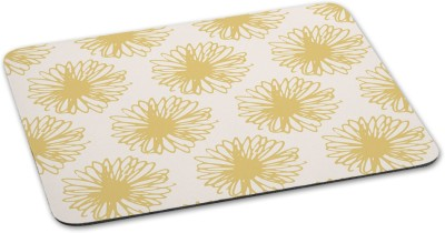100yellow Mousepad Floral Printed designer waterproof coating mouse padfor Computer- Yellow Mousepad(Multicolor)