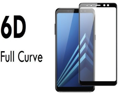 S-Softline Edge To Edge Tempered Glass for Samsung Galaxy A8 Plus (Premium 6D Full Glue)(Pack of 1)