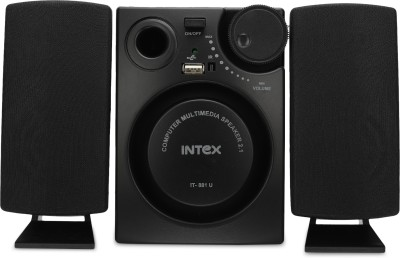 Intex IT 881U 16 W Laptop/Desktop Speaker(Black, 2.1 Channel)