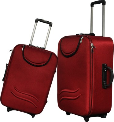 MOFKOF STYLISH MAROON WITH POCKET Expandable Check in Luggage   24 inch