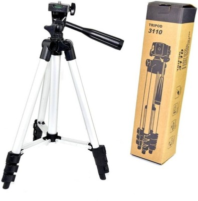 Klick n Shop ™ 3110 Metal Extendable Tripod Stand Monopod For Canon SONY Camera Camcorder Tripod(Silver, Supports Up to 1500 g)  available at flipkart for Rs.1499