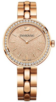 Swarovski 5182231 Daytime Peach Dial Rose Gold-tone Swiss Made Watch  - For Women