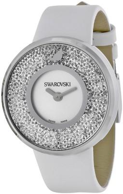 Swarovski 1135989 Crystalline White Dial Calfskin Leather Strap Watch  - For Women