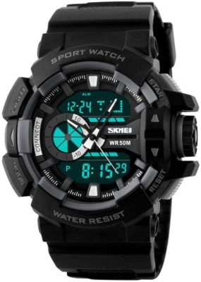 SKMEI Blk Analog Digital Wrist Analog Digital Watch   For Men SKMEI Wrist Watches