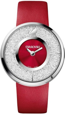 Swarovski 1144170 Crystalline Red Leather Swiss Watch  - For Women